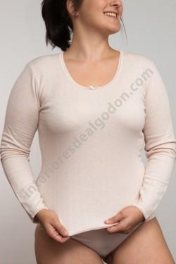 Camiseta manga larga felpa,...