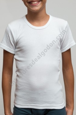 Camiseta manga corta canalé...